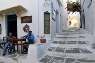 Grecia Isole Cicladi Paros Il villaggio di Lefkes Scorcio del centro storico| Greece Cyclades Islands Paros Lefkes The centre of the village