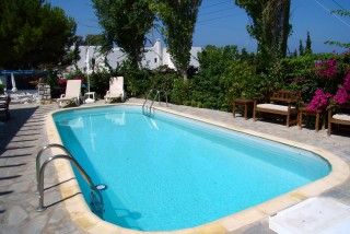panorama hotel with pool in paros